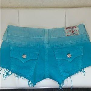 True Religion Joey Cutoff Ombré shorts ✨💫
